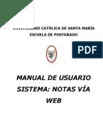 Manual Sistema de Notas Web - Escuela de Postgrado - 2017 - Par