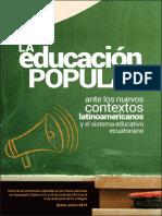 Fe y Alegria La Educacion Popular