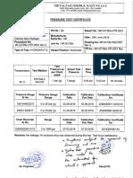 MFJO738A- Prssure Test Certificate