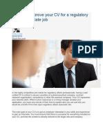 Tips for Regulatory Affairs Cv