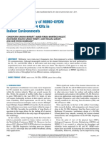 Experimental Study of MIMO-OfDM Transmissions at 94 GHz in Indoor Environments