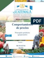 Guatemala Informe Semanal de Precios, Del 19 Al 25 de Mayo de 2017