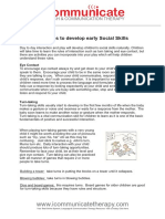 Activities to Develop Early Social Skills