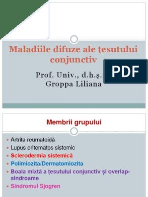 Semne comune de boală difuză a țesutului conjunctiv