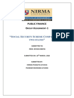 Social security scheme comparison for two states of India