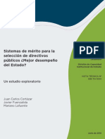 Sistemas de Meritos Para La Seleccion de Directivos Publicos