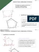 Dibujo Técnico I TEMA 02. Igualdad, Teorema de Tales, Semejanza, Potencia