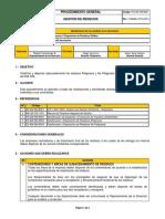 PG-AM-SM-8003 Rev. 2 Fecha 05-04-2013 Gestión de Residuos