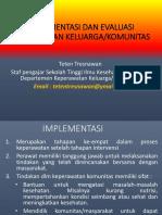 Implementasi Dan Evaluasi as.kep Komunutas