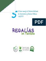 Cartilla Regalías en Plastilina - V. 5