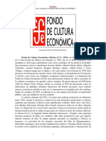 Fondo de Cultura Economica Mexico d f 1934 Semblanza