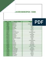 CODIGO Municipios Dane