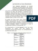 El Nombre Griego Iēsoũs en Los Casos Gramaticales