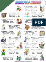Four Tenses Present Simple Past Simple Present Continuous Past Continuous Worksheet