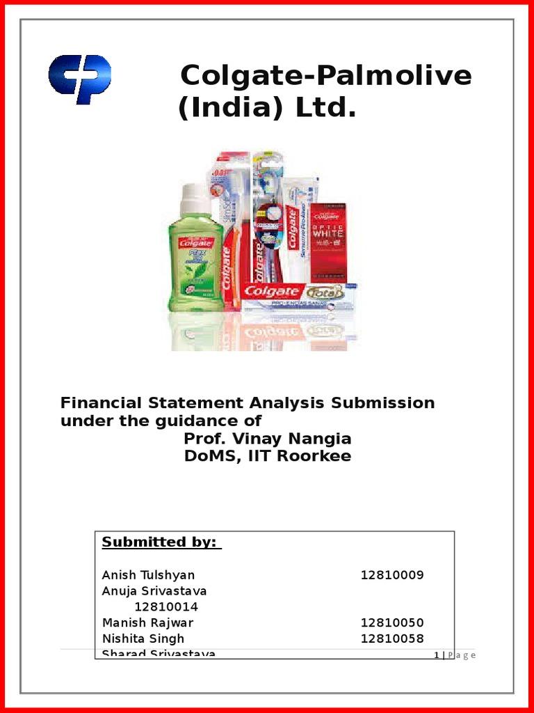 Colgatereport 140113043036 Phpapp02 Revenue Oral Hygiene