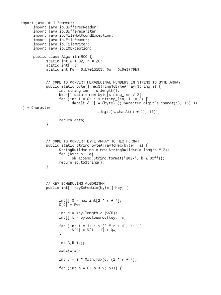 RC6 Sample | String (Computer Science) | Applied Mathematics