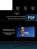 In Class Event Management Assignment_Fifa World Cup