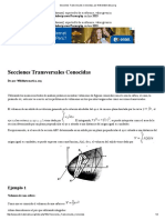 Secciones Transversales Conocidas, Por WikiMatematica