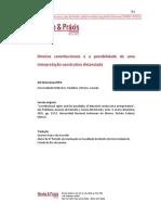 Waluchow - Direitos Constitucionais e a Possibilidade de Uma Interpretação Construtiva Distanciada