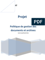 Politique Gestion Documents Archives