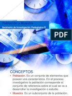 Población y Muestra. Seminario de Investigación Pedagógica II