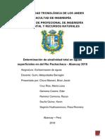 Determinación Alcalina en Aguas Superficiales en Del Río Pachachaca - Abancay 2018