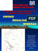 Regalias Mineras - Prefectura Potosi