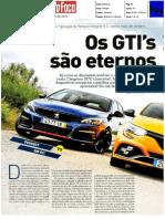 "NOVO RENAULT MÉGANE R.S. FRENTE AO PEUGEOT 308 GTI E VW GOLF GTI DSG E NA ""AUTO FOCO"""