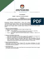 Pengumuman Pendaftaran Balon Perseorangan DPD Sulbar Pemilu 2019
