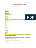 Examen Parcial Final Psicologia Cognitiva Pregunta 1