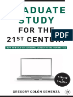 Gregory M. Colón Semenza, Michael Berube-Graduate Study for the Twenty-First Century_ How to B