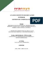Tesis de Gestion de Compensaciones ( Correguido ) (1)