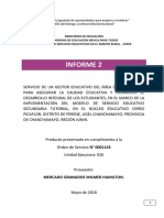 Informe 2 - Gestor Educativo