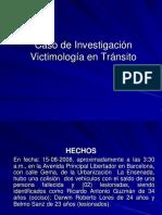 Modelo Caso de Transito VICTIMOLOGÍA 2014