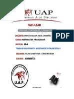 Matefinanciera II- Trabajo Academico