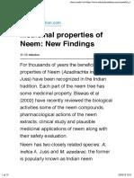 dddddMedicinal properties of Neem
