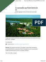 Veja cinco hotéis e pousadas que ficam dentro de parques naturais - 17:05:2018 - Turismo - Folha