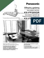Panasonic KX-FC205215 FAX & Telephone User's Manual