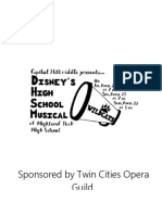 playbill for musical