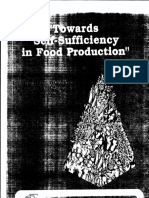Towards Self Sufficiency in Agriculture 1990