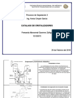 Catalago de Cristalizadores