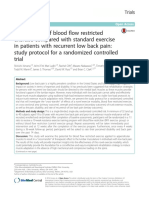 Effectiveness of Blood Flow Restricted Exercise Compared With Standard Exercise in Patients With Recurrent Low Back Pain- Study Protocol for a Randomized Controlled Trial