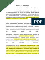 Bolívar y La Democracia