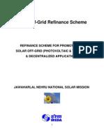 Solar Off Grid Refinance Scheme