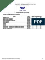 Demanda Oficial - Vestibular de Inverno 2017