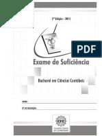 PROVA CFC 2011-2