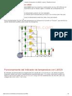 Indicador de Temperatura Con LM324 (C. Impreso)