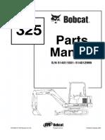 Bobcat 325 Excavator Parts Catalogue Manual SN 514011001-514012999.pdf