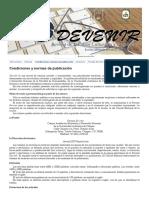 Condiciones y normas de publicación - Portal Devenir
