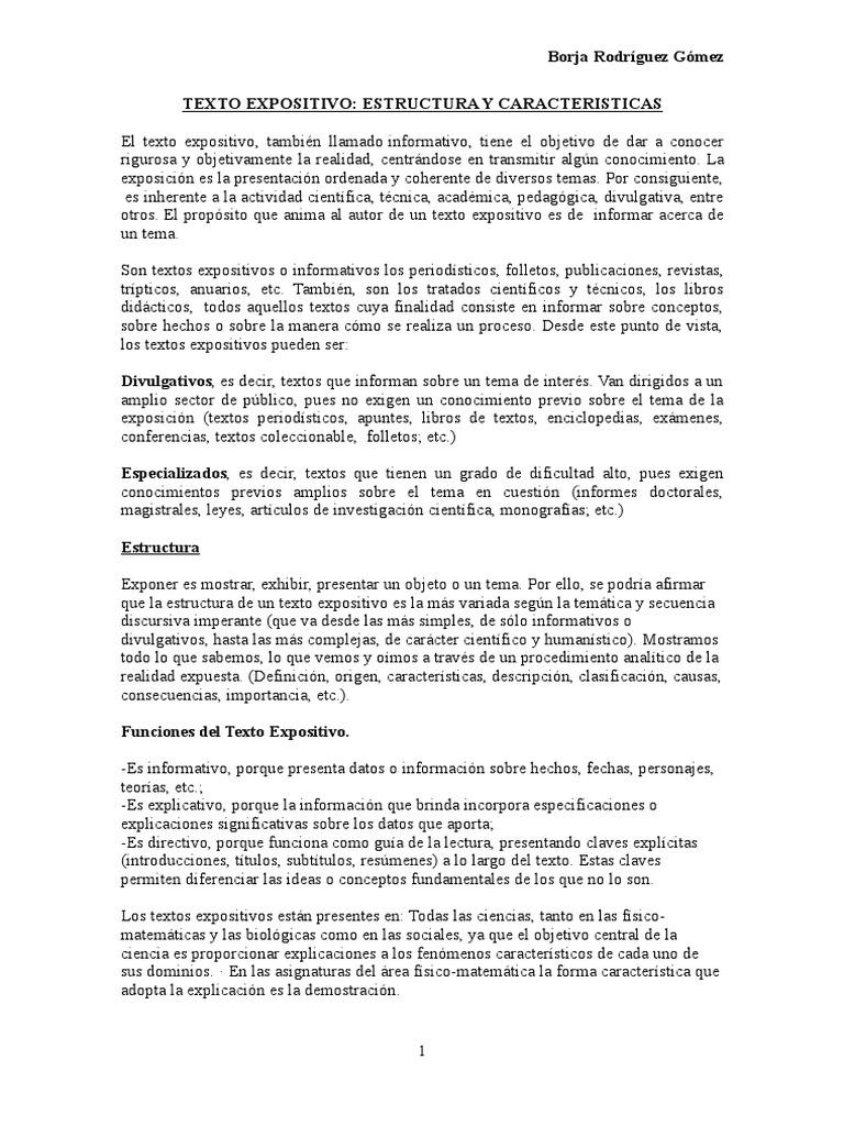 Texto Expositivo Borja Doc